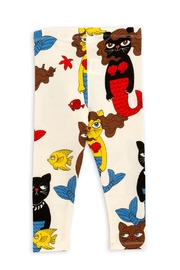 Mini Rodini Cat Mermaid Leggings - Front full body