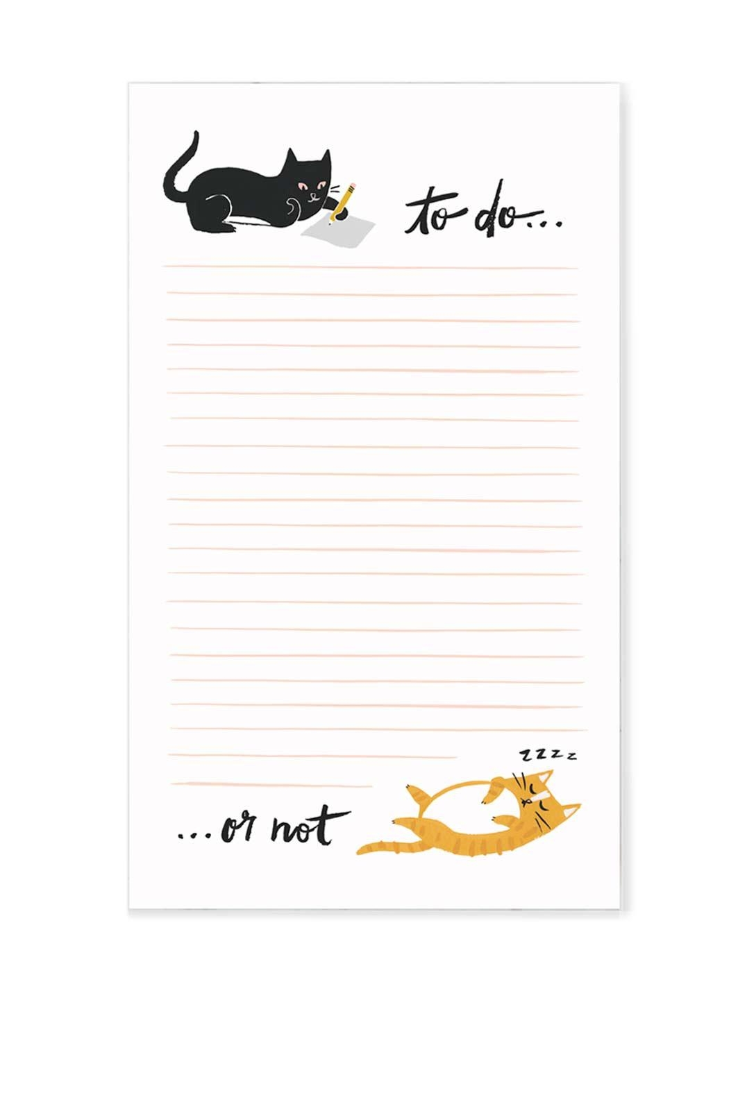 Idlewild Co. Cat Paper Notepad - Main Image
