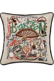 Cat Studios Hand-Embroidered Boston Pillow - Product Mini Image