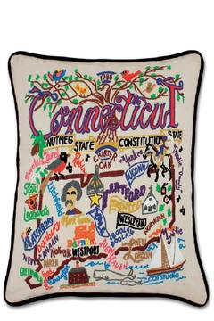 Shoptiques Product: Hand-Embroidered Connecticut Pillow