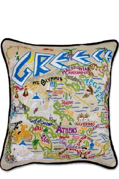 Shoptiques Product: Hand-Embroidered Greece Pillow