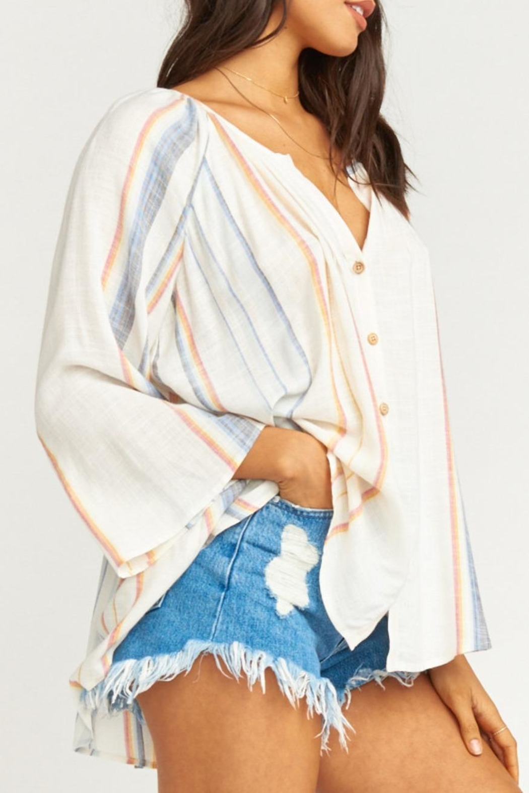 Show Me Your Mumu Catalina Cup Tunic - Side Cropped Image