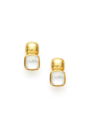 Julie Vos CATALINA EARRING-IRRIDESCENT CLEAR CRYSTAL - Product Mini Image