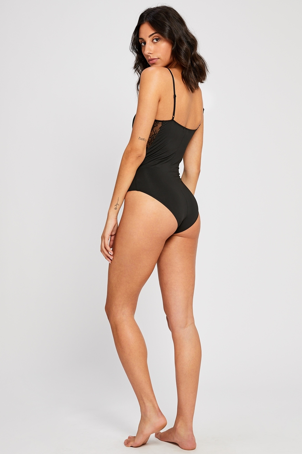 Gentle Fawn Catalina Lace-Inset Bodysuit - Back Cropped Image
