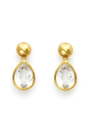 Julie Vos CATALINA MIDI EARRING-CLEAR CRYSTAL - Product Mini Image