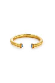 The Birds Nest CATALINA SMALL HINGE CUFF-IRRIDESCENT CHALCEDONY BLUE - Product Mini Image