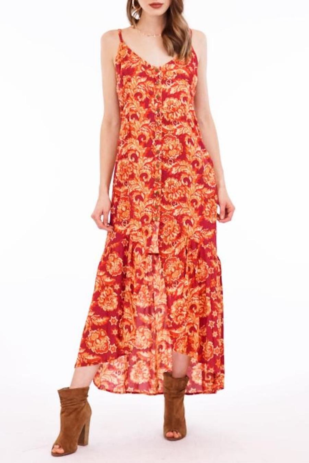 Tiare Hawaii Catch Maxi Dress - Front Cropped Image