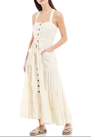 Free People Catch The Breeze Midi Dress - Front cropped