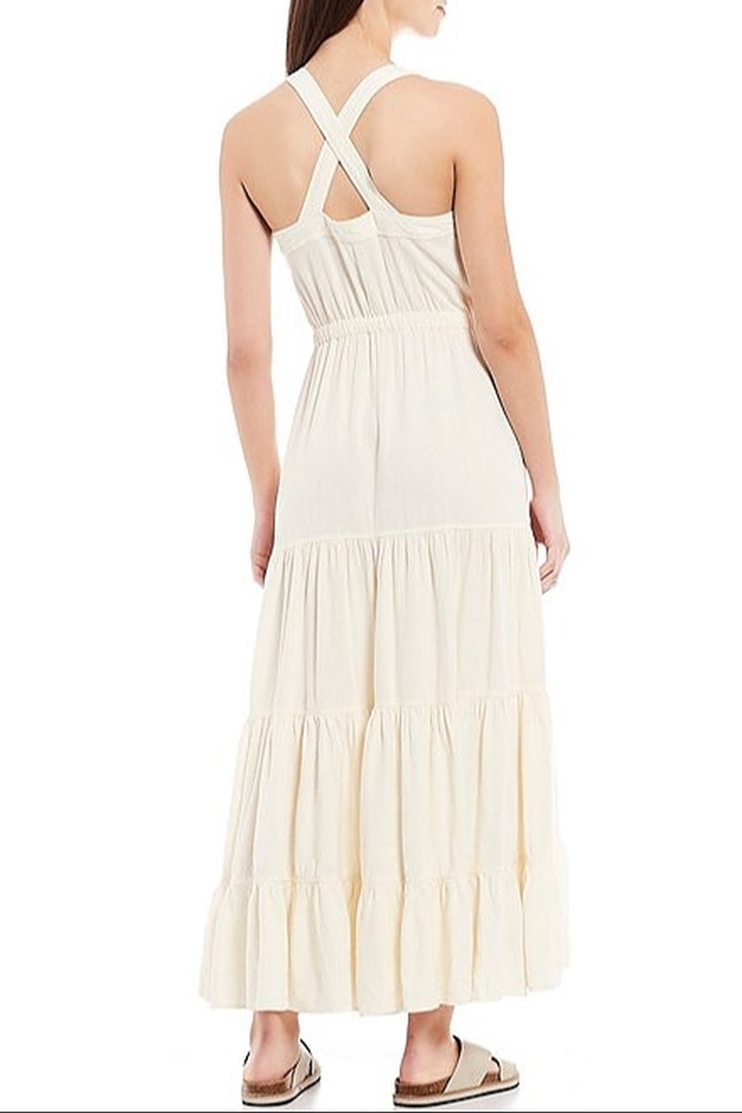 Free People Catch The Breeze Midi Dress - Front Full Image