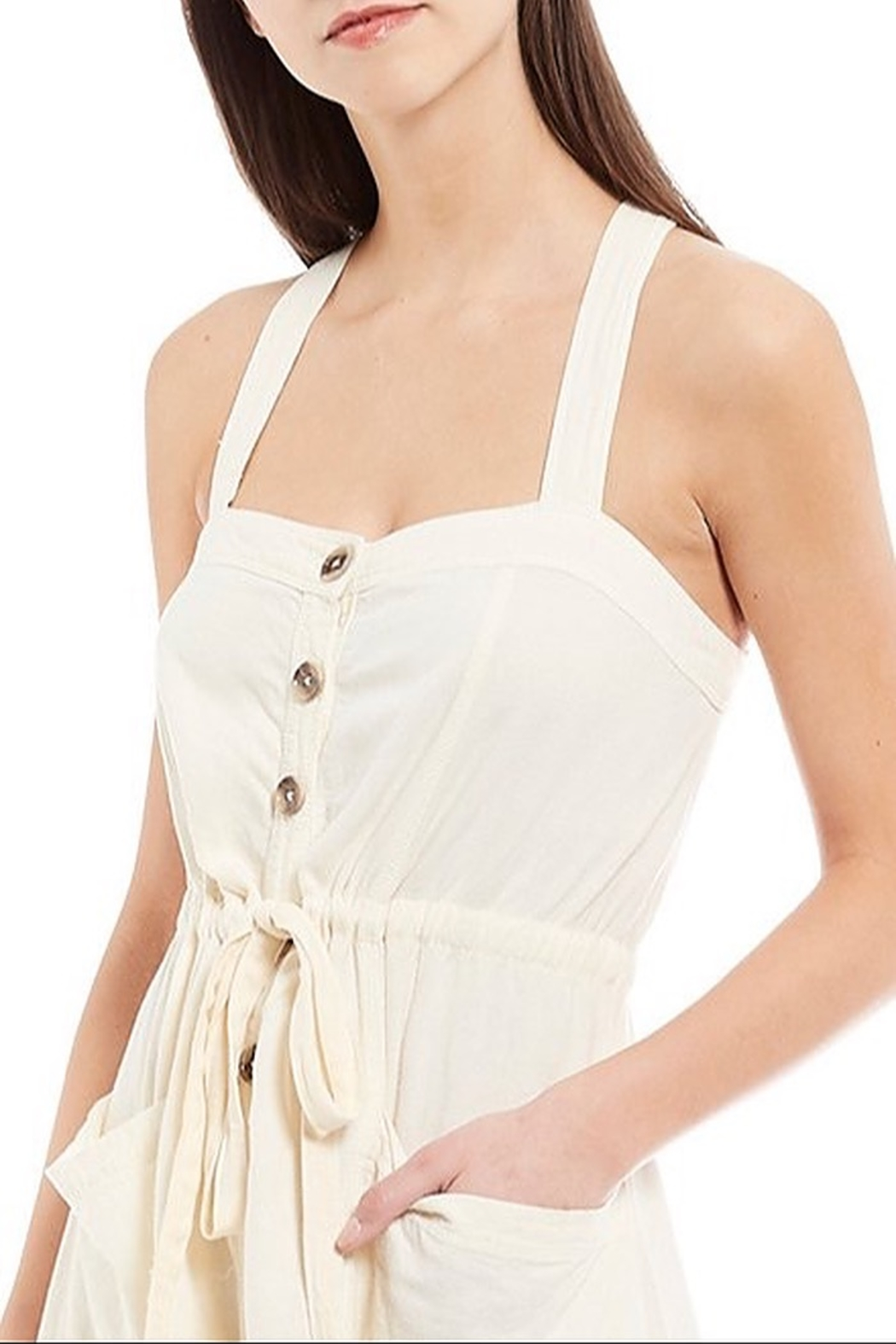 Free People Catch The Breeze Midi Dress - Side Cropped Image