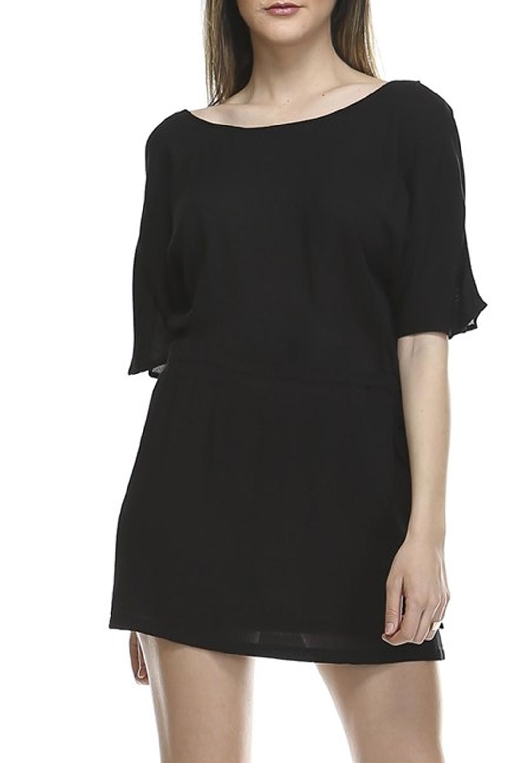 Catch Me Woven Tie Dress - Front Cropped Image