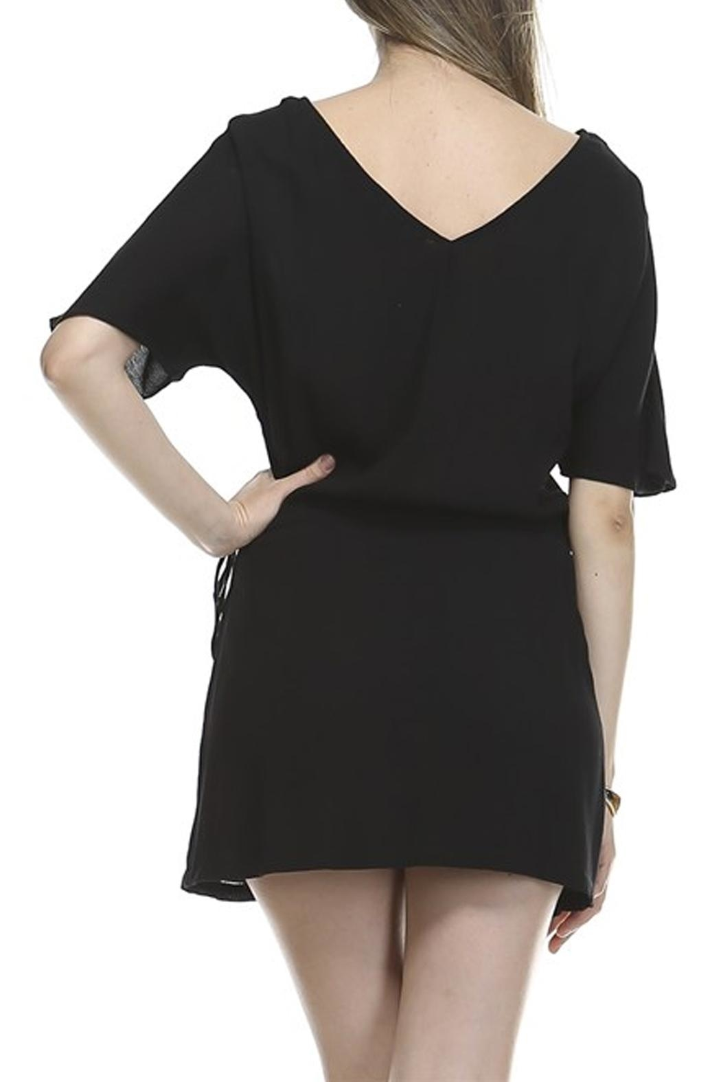 Catch Me Woven Tie Dress - Side Cropped Image