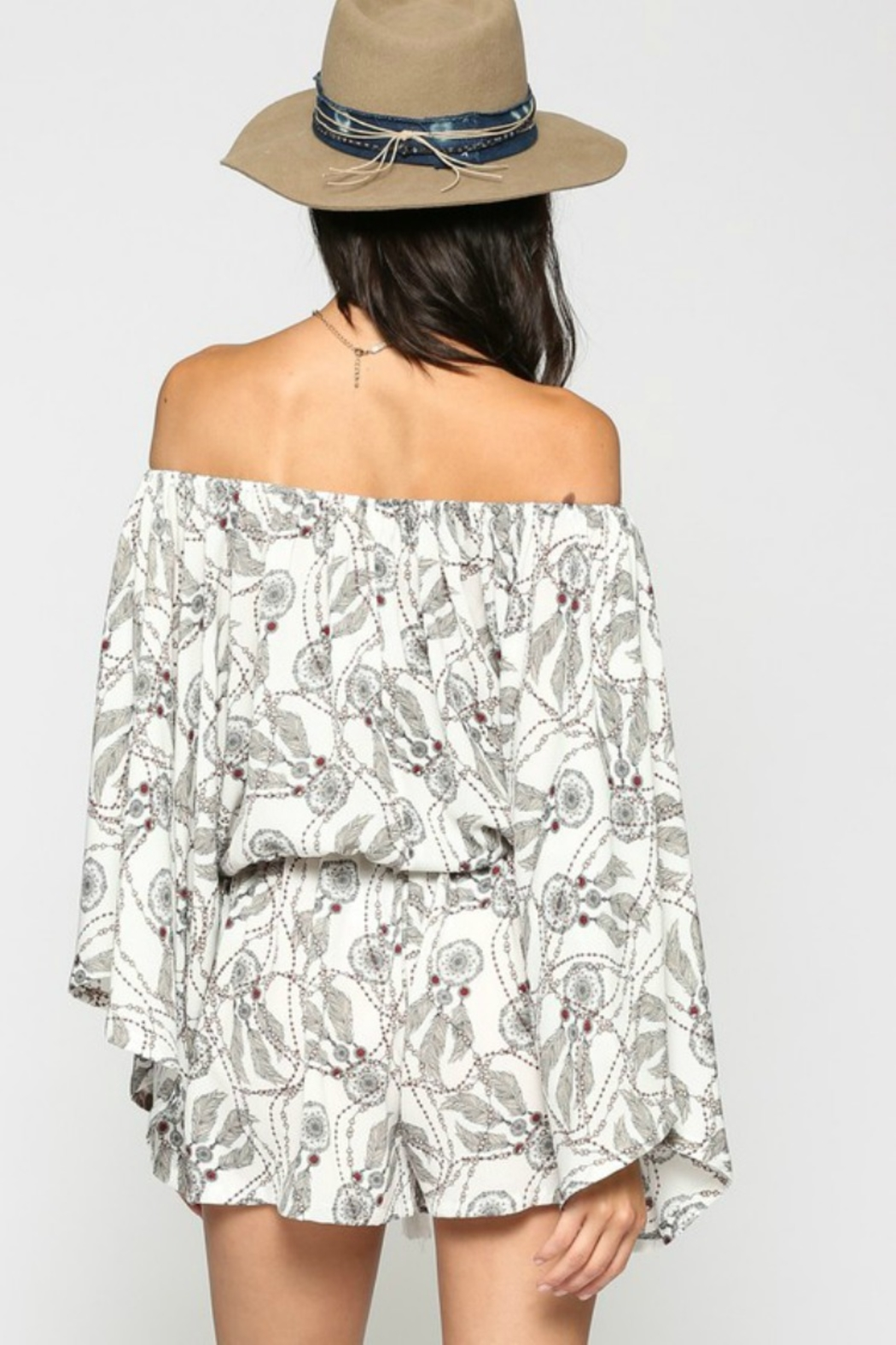 KyeMi Catching Dreams Romper - Back Cropped Image
