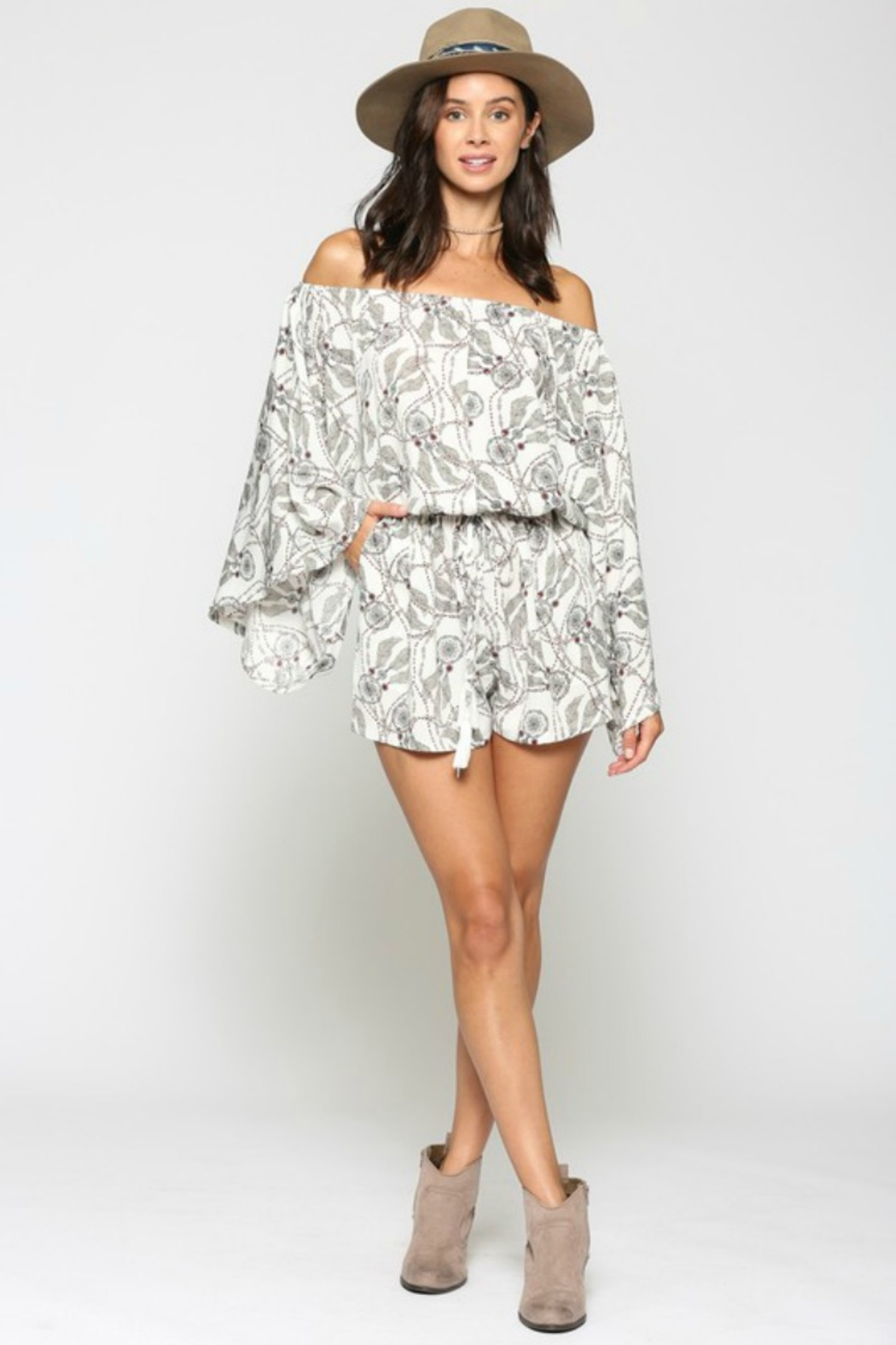 KyeMi Catching Dreams Romper - Front Cropped Image