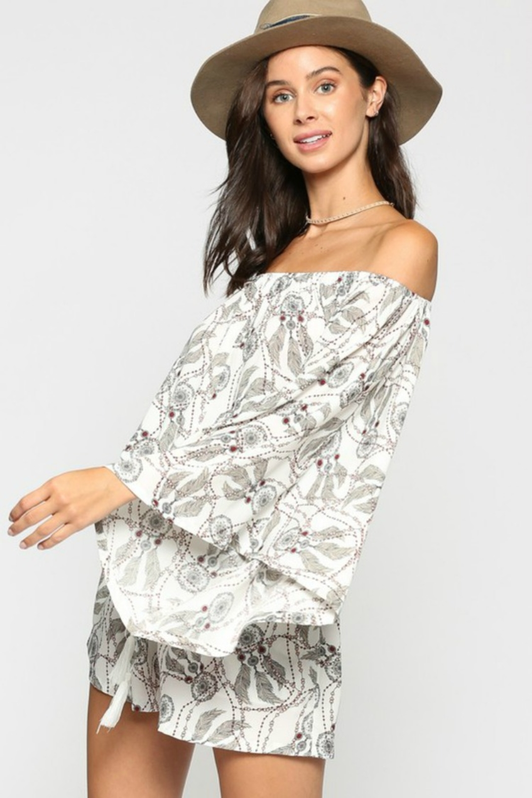 KyeMi Catching Dreams Romper - Side Cropped Image