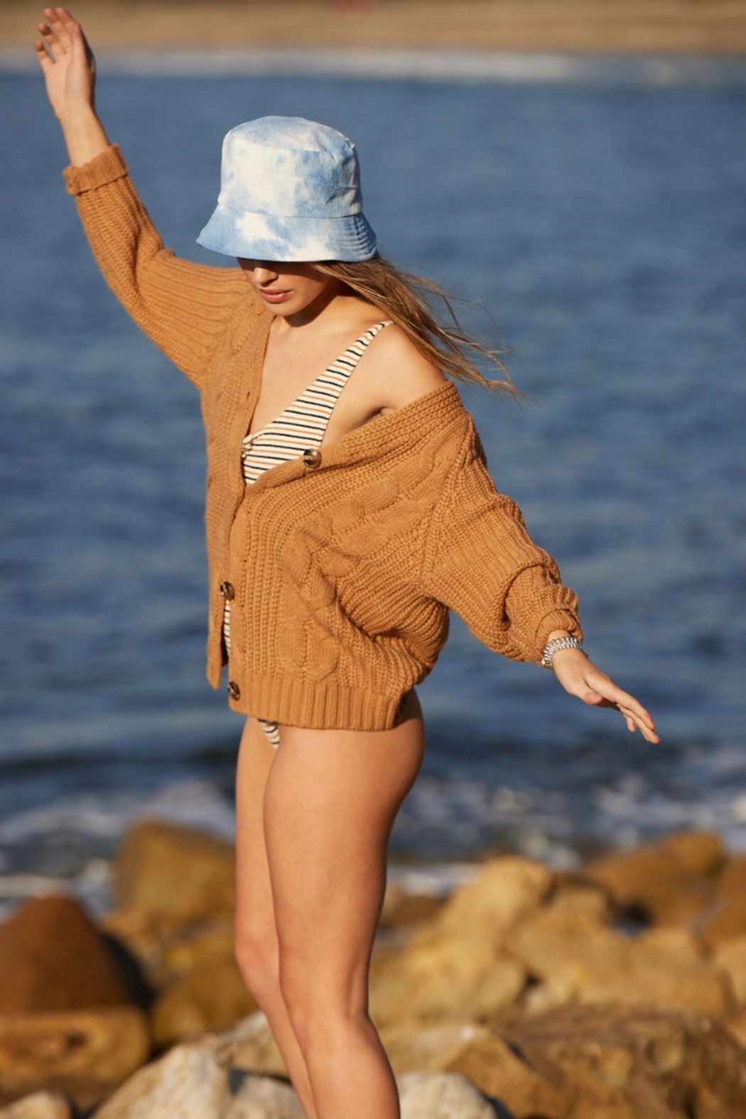 Virginia Wolf Cate Corduroy Bucket Hat - Front Full Image