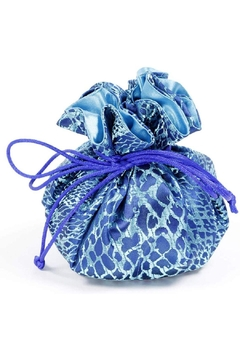 Cathayana Blue Animal Pattern Jewelry Pouch - Alternate List Image