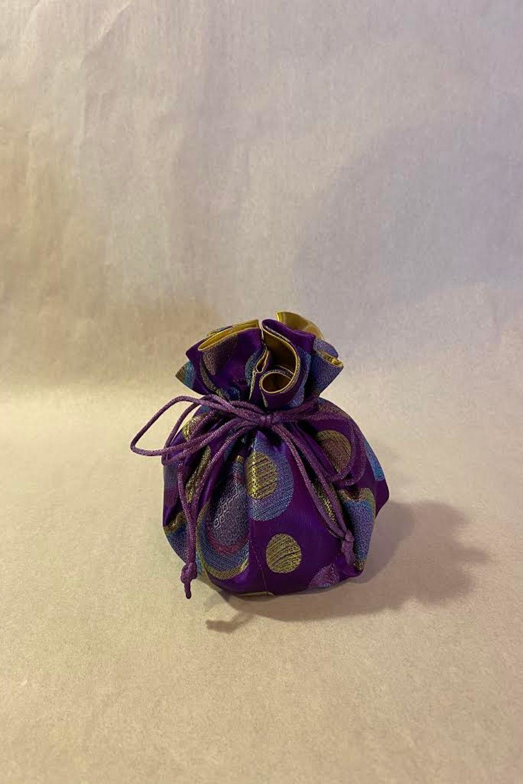 Cathayana Purple Polka Dot Travel Jewelry Pouch - Main Image