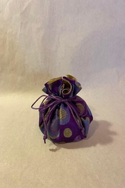 Cathayana Purple Polka Dot Travel Jewelry Pouch - Product Mini Image