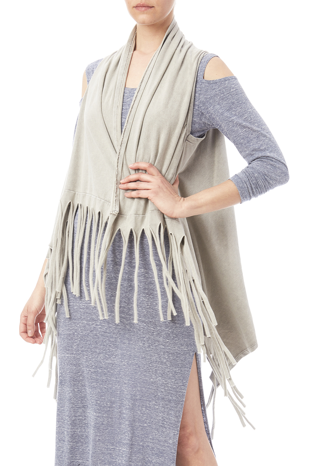 Catherine Lillywhite Fringed Vest - Front Cropped Image