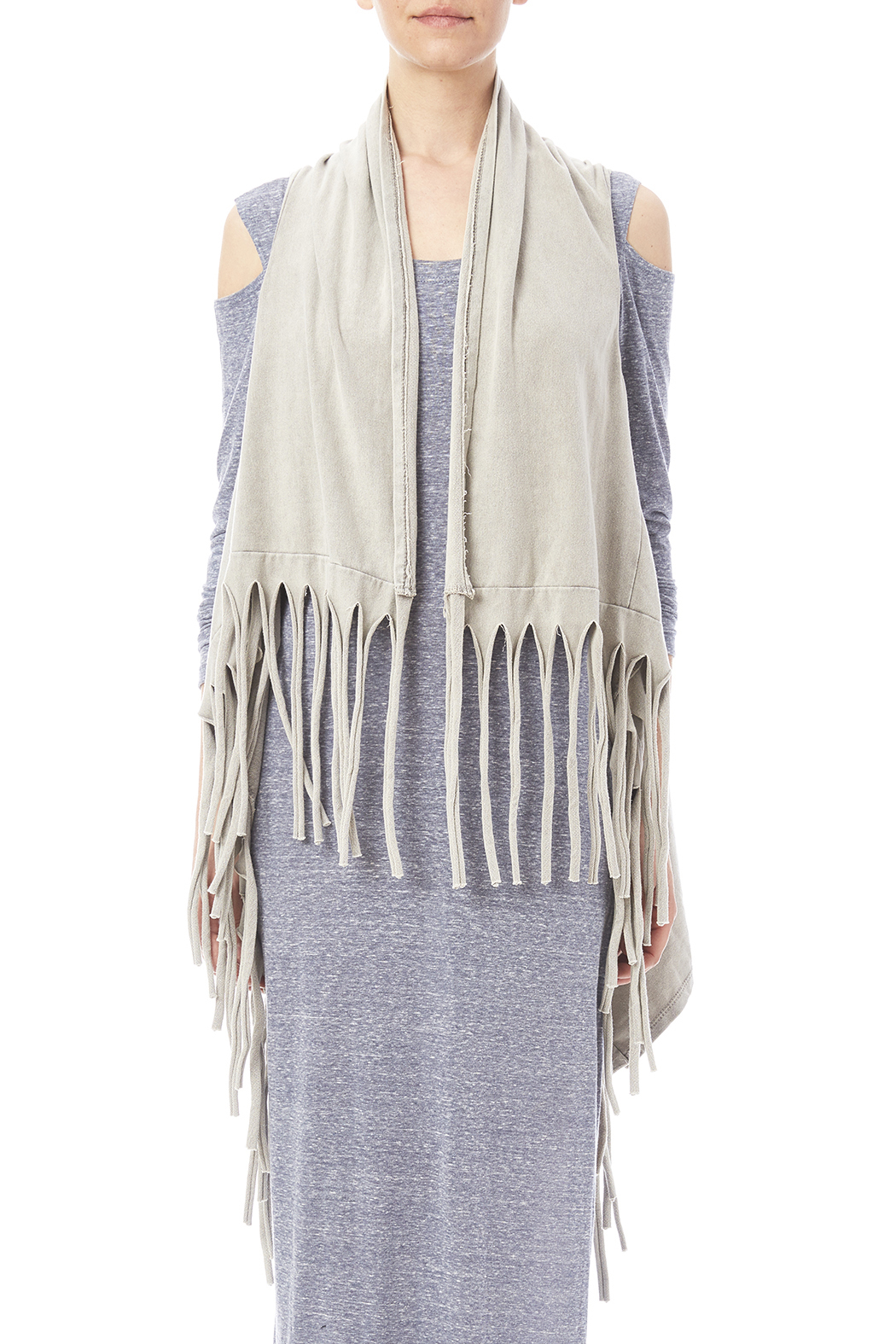 Catherine Lillywhite Fringed Vest - Side Cropped Image