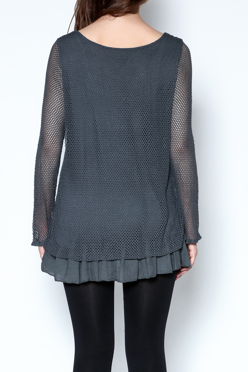 Catherine Lillywhite Knit Lace Top - Back Cropped Image