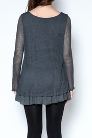 Catherine Lillywhite Knit Lace Top - Back cropped