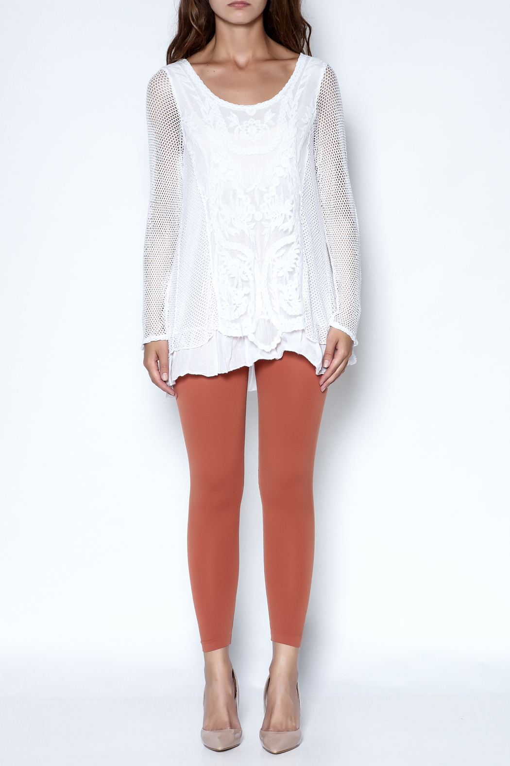 Catherine Lillywhite Knit Lace Top - Front Full Image