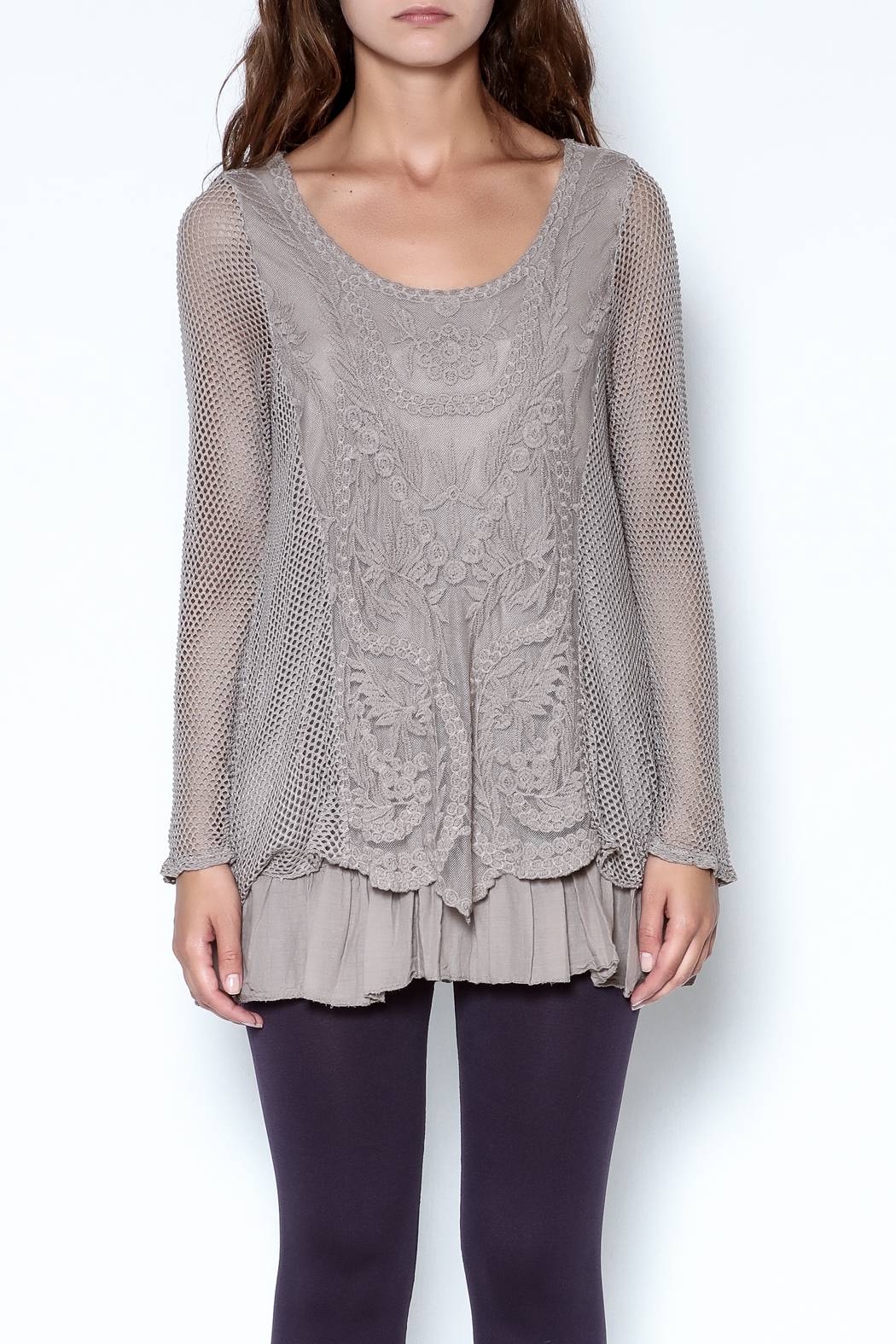 Catherine Lillywhite Knit Lace Top - Main Image