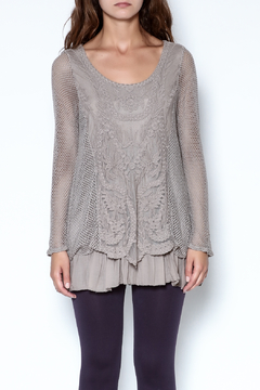 Catherine Lillywhite Knit Lace Top - Product List Image