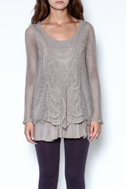 Catherine Lillywhite Knit Lace Top - Product Mini Image