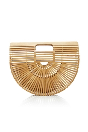 Catherine K Collections Bamboo Half Moon Clutch - Front cropped