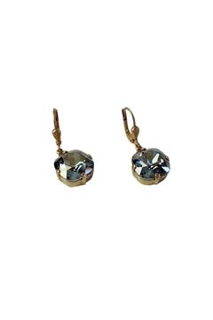 Catherine Popesco for La Vie Parisienne Black Diamond Swarovski Earrings - Alternate List Image