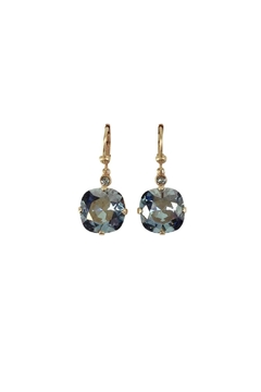 Catherine Popesco for La Vie Parisienne Black Diamond Swarovski Earrings - Product List Image