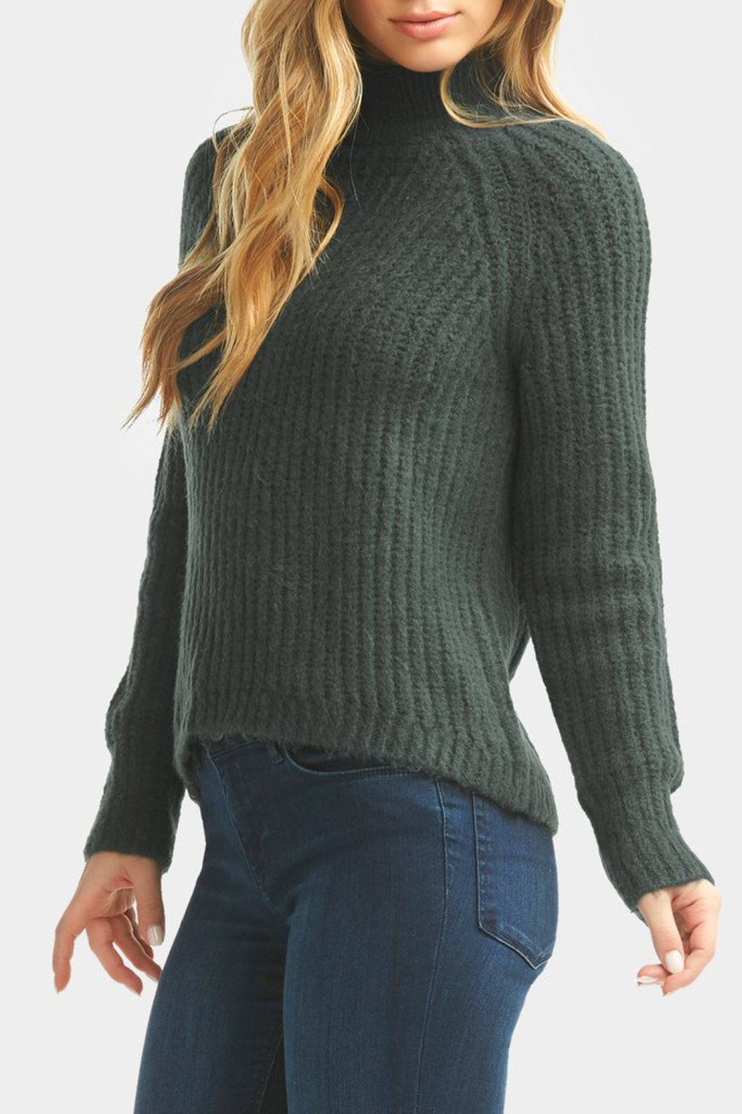 Tart Collections Cati Mock Neck Sweater - Back Cropped Image