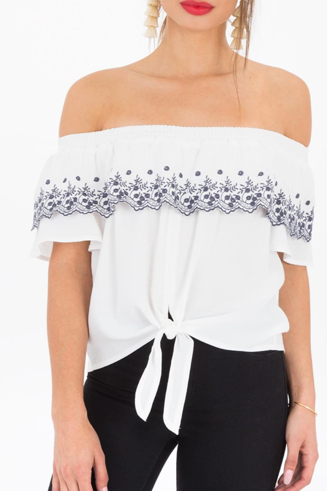 Black Swan Catia White Top - Front Cropped Image
