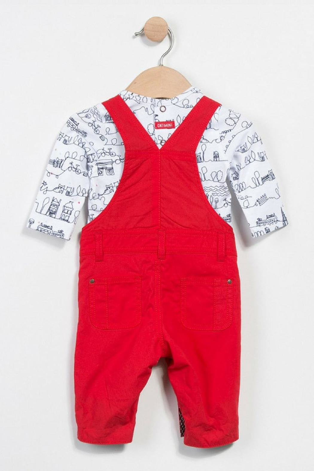 Catimini Dungarees And T-Shirt - Front Full Image
