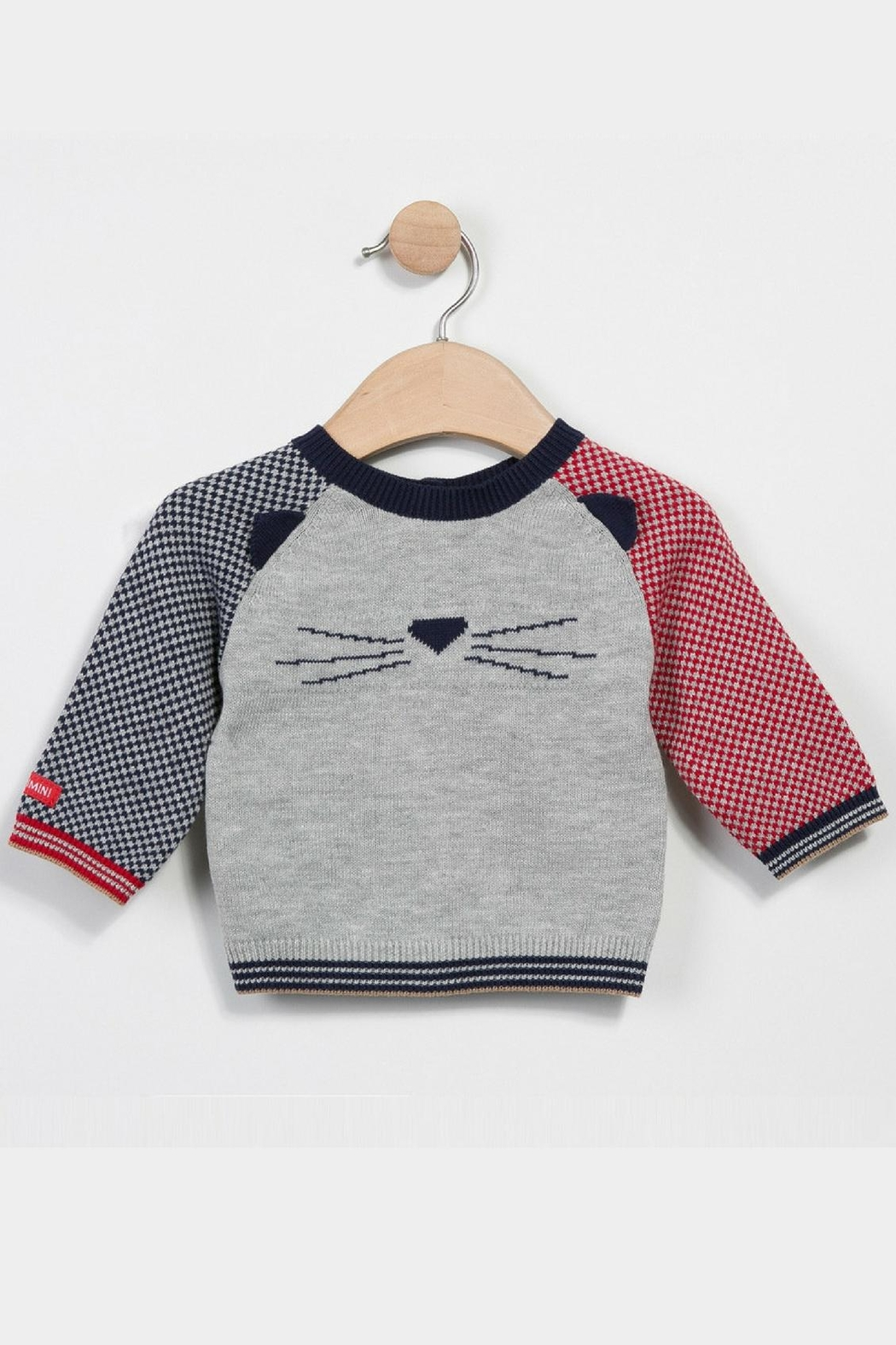 Catimini Knitted Printed Cardigan - Front Cropped Image