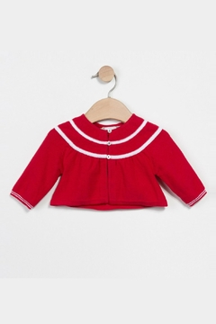 Shoptiques Product: Red Knitted Cardigan Top