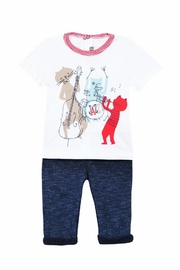 Catimini T-Shirt And Trousers - Front cropped