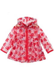 Catimini Transparent Heart Raincoat - Front cropped