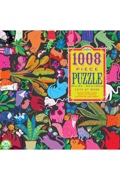 Eeboo Cats at Work 1000 Piece Puzzle - Product List Image