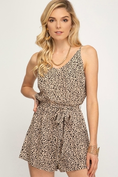She + Sky Cats Meow Romper - Product List Image
