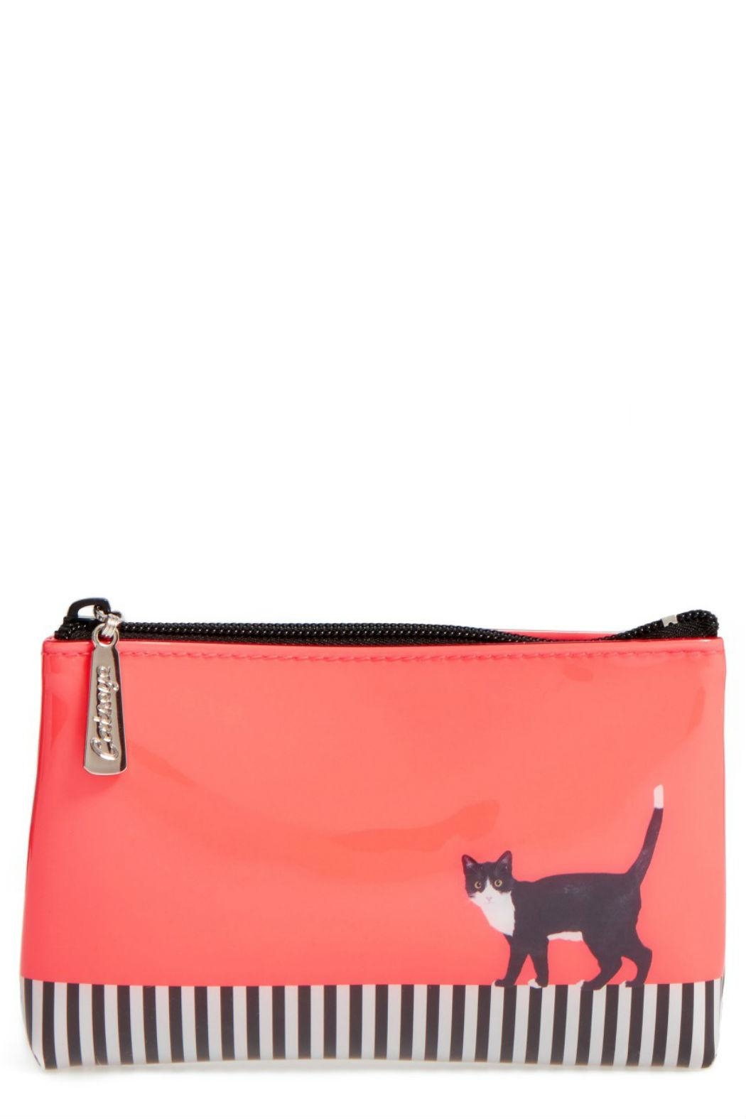 Catseye London Cat Stripe Pouch - Front Cropped Image