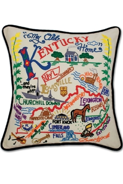 Catstudio Embroidered Kentucky Pillow - Alternate List Image