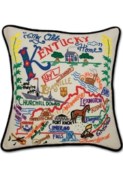Catstudio Embroidered Kentucky Pillow - Product Mini Image