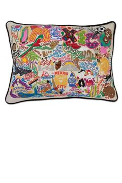 Catstudio Mexico Hand Embroidered Pillow - Alternate List Image