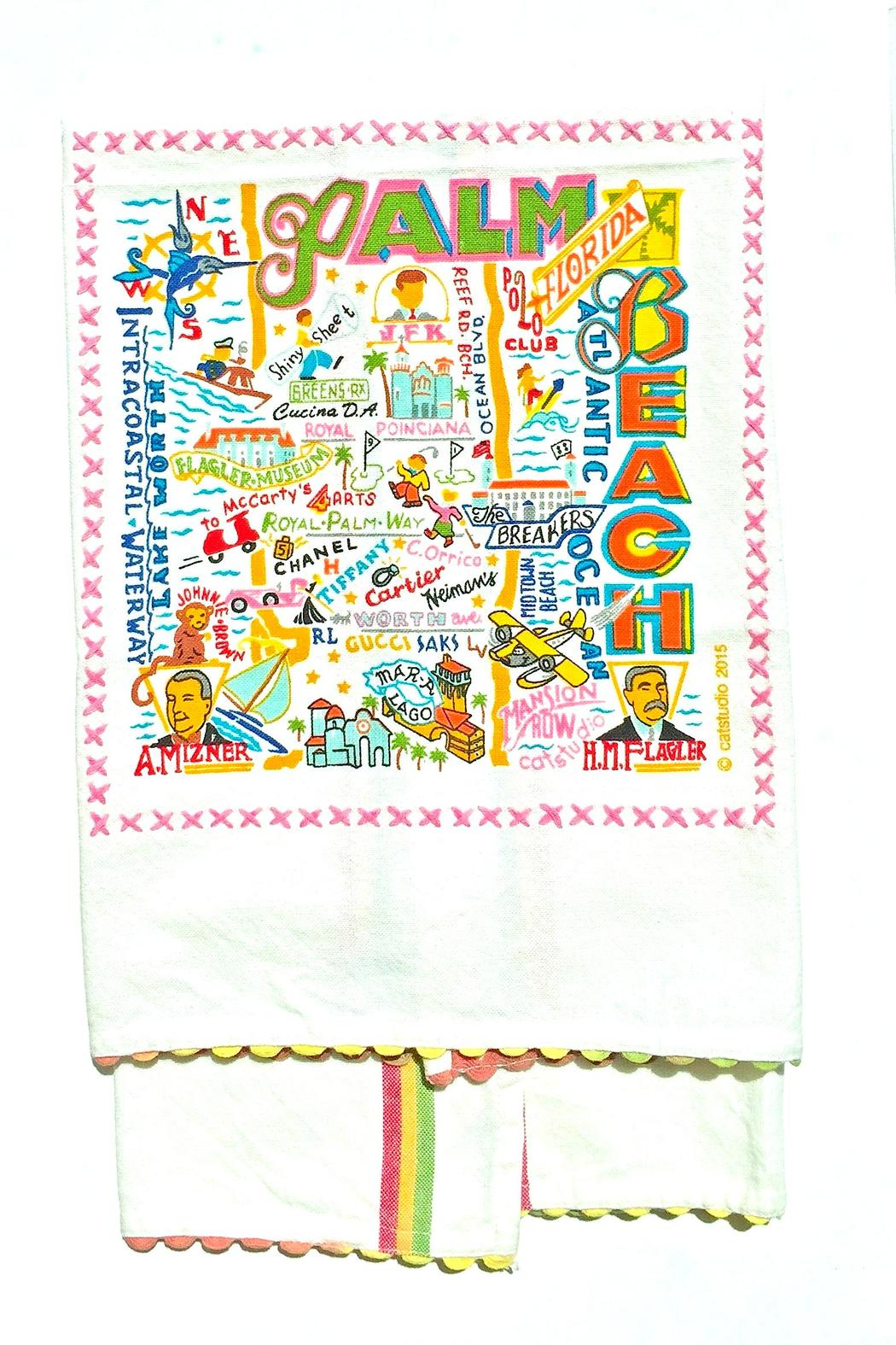 Catstudio Palm Beach Towel - Front Cropped Image