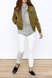 Cattiva Girl Olive Bomber Jacket - Front full body