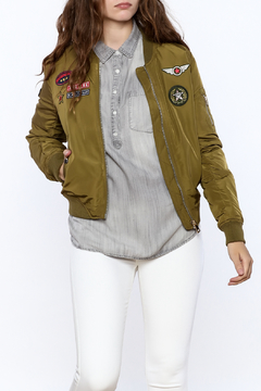 Shoptiques Product: Olive Bomber Jacket